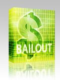 Bailout Finance illustration box package Royalty Free Stock Photo