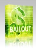Bailout Finance illustration box package. Software package box Bailout Finance illustration, dollar symbol over financial design stock illustration