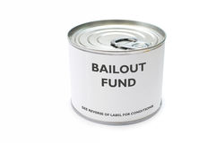 Bailout fonds stock afbeelding
