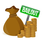 Bailout. Money bag sign Royalty Free Stock Images