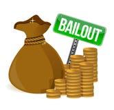 Bailout. Money bag sign. Illustration design over a white background royalty free illustration