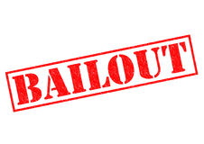 BAILOUT. Red Rubber Stamp over a white background royalty free illustration
