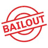 Bailout rubber stamp Stock Photos