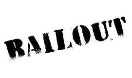 Bailout rubber stamp. Grunge design with dust scratches. Effects can be easily removed for a clean, crisp look. Color is easily changed royalty free illustration