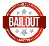 Bailout seal. Illustration design over a white background vector illustration