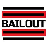 BAILOUT stamp on white. Background. Labels and stamps series royalty free illustration