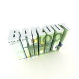 Bailout van de Europese Unie Stock Afbeelding