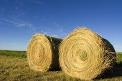 Bails. Two bails on farmland royalty free stock photo
