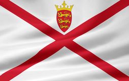 Bailwick der Jersey-Markierungsfahne Lizenzfreies Stockfoto