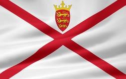 Bailwick van de vlag van Jersey Royalty-vrije Stock Foto