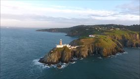 baily φάρος Howth Ιρλανδία απόθεμα βίντεο