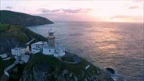 Baily Leuchtturm Howth irland stock footage