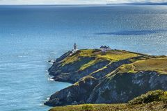 Baily-Leuchtturm, Howth, Irland stockfotos