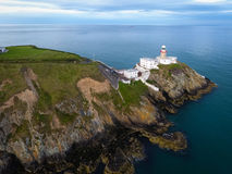 Baily lighthouse. Howth. Ireland. Aerial view. Baily lighthouse. Howth. county Dublin. Ireland Royalty Free Stock Photos