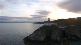 Baily lighthouse. Howth. Ireland stock video