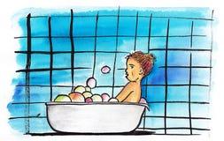 bain Photo libre de droits