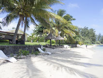 Bain Boeuf Beach, Îles Maurice Photographie stock libre de droits
