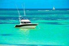 BAIN BOEUF Mauriutius Praia bonita em Maurícias do norte Moeda de Atoleiro, foto de stock