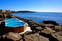 Bain chaud Islande photo stock