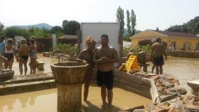 Bain de boue dans dalyan Images stock