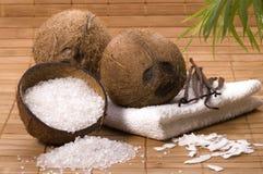 Bain de Cocos et de vanille images libres de droits