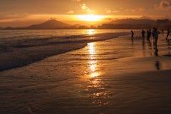 Bain de coucher du soleil Photographie stock libre de droits