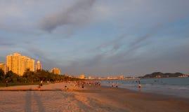 Bain de coucher du soleil Images libres de droits