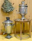 Bain de deux samovars Photos libres de droits