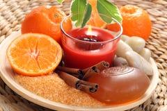 Bain de mandarine Images stock