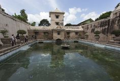 Bain de Plataran Tamansari dans Kraton Images libres de droits