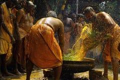 Bain de safran des indes images stock