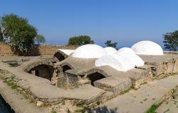 Bain du ` s de Khan dans la forteresse de Naryn-Kala Derbent photo stock