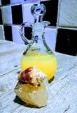 Bain moussant de vanille avec le cristal et le Shell image stock
