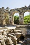 Bain romain dans Perga Photos libres de droits