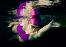bain sous-marin Images libres de droits