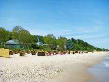 Bain thermique Ostsee Therme dans le brin de Timmendorfer, mer baltique, Allemagne Image libre de droits