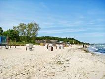 Bain thermique Ostsee Therme dans le brin de Timmendorfer, mer baltique, Allemagne Images libres de droits