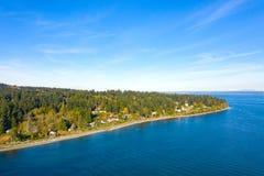 Bainbridge Island Coastline Beach Waterfront Panoramic royalty free stock photography