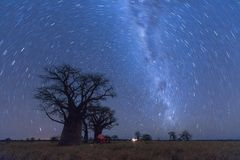 Baines Baobab Strartrail Royalty Free Stock Images