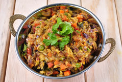 Baingan Bhurta (Eggplant) Stock Images