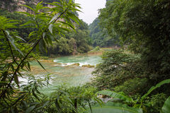 Baining river scenery of Huangguoshu waterfalls -Anshun, Guizhou. Baining river scenery of Huangguoshu waterfalls located in Anshun, Guizhou, China Stock Image