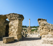 Bains d'Antonii à Carthage Tunisie Images libres de droits