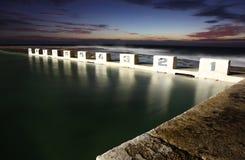 Bains d'océan de Merewether - Australie de Newcastle images libres de droits