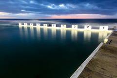 Bains d'océan de Merewether - Australie de Newcastle photos libres de droits