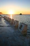 Bains de Merewether - Australie de Newcastle photo stock