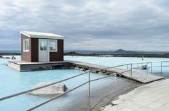 Bains de nature de Myvatn Photographie stock libre de droits
