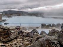 Bains de nature de Myvatn image stock