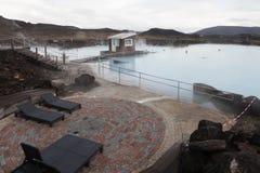 Bains de nature de Myvatn (station thermale) Image stock