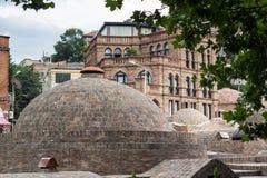 Bains de renommée mondiale de soufre à Tbilisi, la Géorgie Photographie stock libre de droits