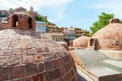 Bains de soufre à Tbilisi, la Géorgie Photos libres de droits